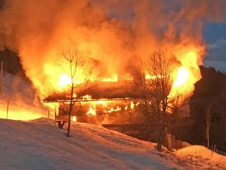 Chaletbrand in Ormont-Dessous