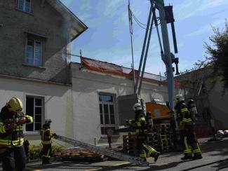 Mottbrand in Fassade in Oberuzwil
